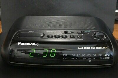 Panasonic RC-6099 Alarm Clock Radio * AM/FM * Fully Works * Vintage * Black