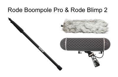 Rode Boompole Pro Carbon Fiber 10' Boom Pole + Blimp Blimp2 Windshield Combo Carbon Fiber Boom Pole