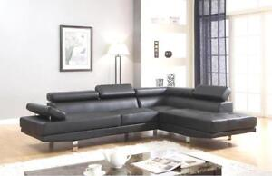 2-PIECE FAUX LEATHER ADJUSTABLE HEADREST SECTIONAL $798