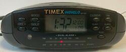 Timex Indiglo Dual Alarm FM/AM Calendar Clock Radio T433B Tested Works great