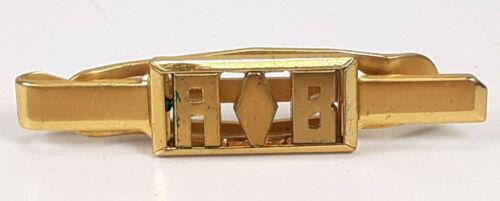 Art Deco Swank Klip Gold Metal Monogram A B Money Clip