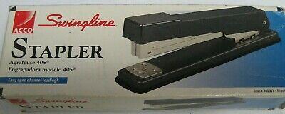Swingline Stapler Model 405 Desk Stapler Easy Open Loading Black