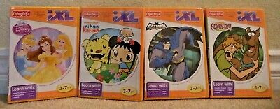 FISHER PRICE iXL LEARNING SYSTEM SOFTWARE BATMAN DISNEY PRINCESS SCOOBY NI HAO, used for sale  Shipping to India