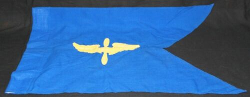 WWII AAF US Army Air Corps Blue Wool Guidon Flag Banner Pennant RARE