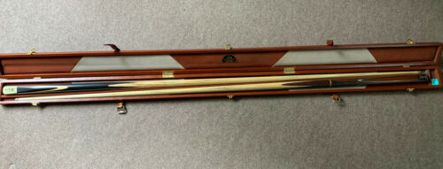 1 Piece Joe Davis Cue, 3/4 Cuesole Handmade Cue In Peradon Brown Leather Case