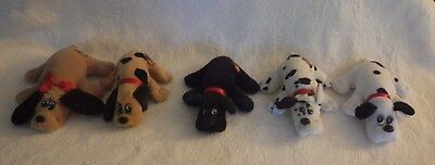 Vintage Tonka Pound Puppies Lot of 5 Brown Black White Black Spotted
