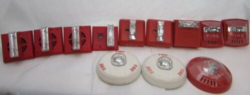 Lot of 12 Fire Alarm/Strobe Assorted