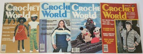 Lot of 4 Vintage Crochet World Magazines 1979