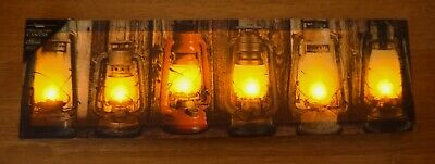 Camping Lanterns Sign Lighted Flicker Flame Light Country Barn Home Decor 20