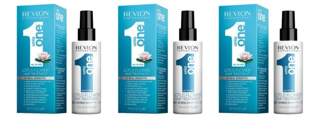 Revlon Uniq One All In One Lotus Flower Hair Treatment 150ml Pack of 3