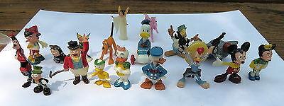 Vintage Marx Walt Disney Disneykins Lot Of  Miniature Figurines 1960's