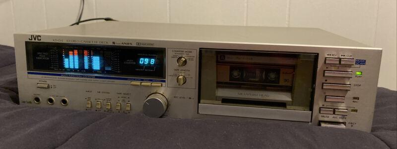 Vintage JVC KD-D4 Stereo Cassette Deck Recorder Super ANSR Tested - PLEASE READ