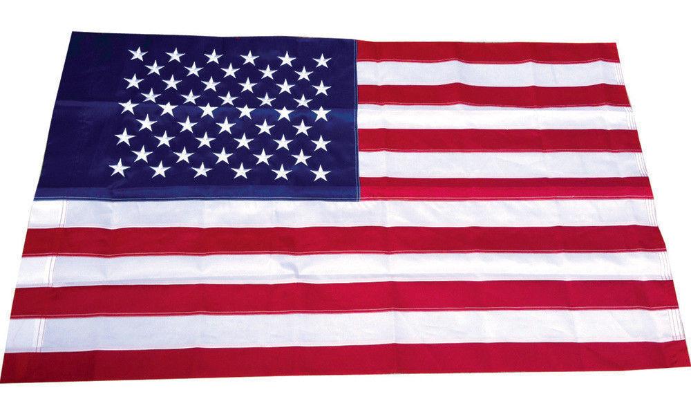 3x5 Embroidered USA American Pole Sleeve Nylon Flag 3'x5'  B