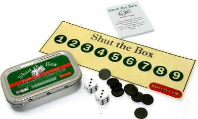Pocket Travel Shut The Box Dice Game - Childrens Games