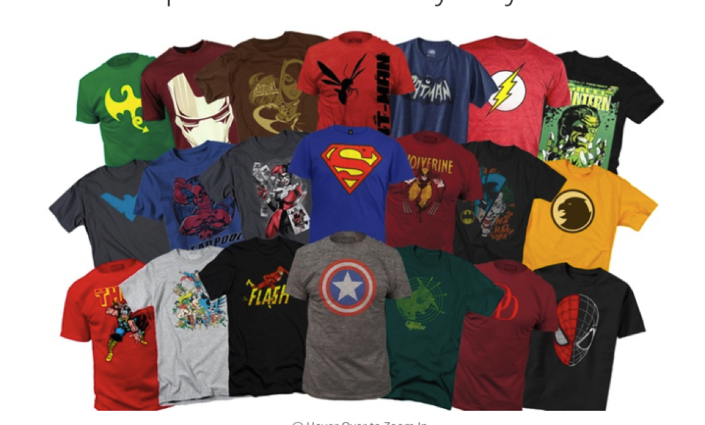 Men's Marvel Superhero T-Shirts Mystery Deal of 2 (Different)