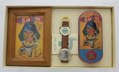 Fossil Set Wrist Watch - Nolan Ryan 27th Season Collectible Fossil Watch Collector's Set #8895/10,000