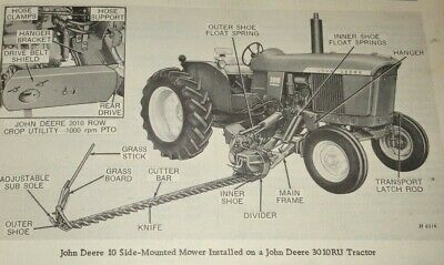 John Deere 10 Side Mounted Mower Parts Catalog Manual Book Jd Original 463