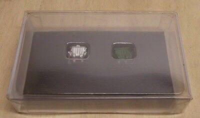 MZZ N 2170 2 Müllcontainer silber / grün Metall NEU in OVP
