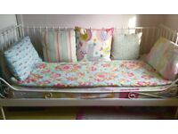 Single bed- iron day bed with mattress