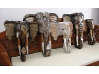 50CM **NEW** WOODEN ELEPHANT MASKS – CHOOSE FROM 4 STYLES ALL HAND CARVED
