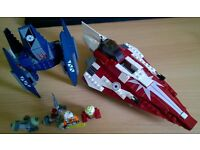 LEGO Star Wars 7751 Ahsokas Starfighter and Droids set Complete