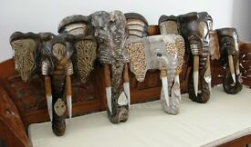 50CM **NEW** WOODEN ELEPHANT MASKS – CHOOSE FROM 3 STYLES ALL HAND CARVED