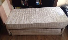 Single guest bed 3 in 1 with mattresses and headboard