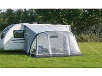 Sunncamp Swift 390 Air Caravan Porch Awning with Free Luxury Carpet - Used Once - Delivery Available
