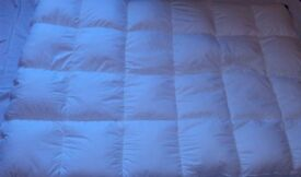 CHARITY SALE: Wild siberian goose feather mattress topper - standard double size.