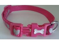 Pink Collar with heart imprints, S