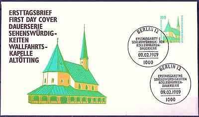 Berlin 1989: Altötting! Sehenswürdigkeiten-FDC der Nr. 834! 1607