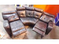 Harvey's Black Electric reclining leather sofa