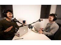 Audio Recording| Voice Acting Studio RENT |Podcast Recording Studio| Vodcast Workspace | Onsite Café