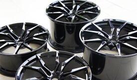 "Lamborghini Aventador 20"" and 21"" Original ""Dione"" gloss black wheels."