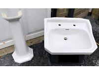 Heritage (vintage) white bathroom/cloakroom suite