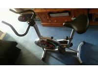 Crystaltec spinning/exercise bike