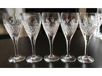 ROYAL SCOT CRYSTAL - Edinburgh Crystal - 5 x Small Crystal Glasses [Ideal for Port/ Wine]