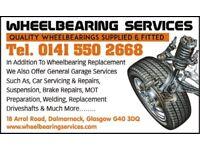 car repairs glasgow drive shafts wheel bearings welding brakes mot suspension servicing diagnostics