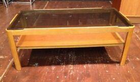 A retro vintage coffee table