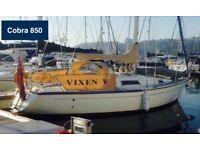 Cobra 850 28ft sailing boat for sale