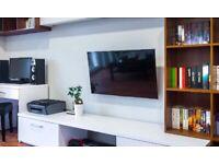 TV wall Mounting £30 handyman Shelf Mirrors Cabinets - flat pack fitter - Doors