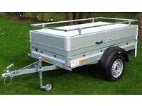 Trailer for sale: Humbaur Startrailer with hinged lid and rails (2m X 1m Internal Platform)