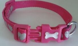 Pink Dogs Collar, S