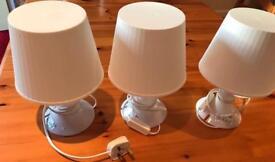 Three ikea lamps