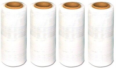 4 Rolls Hand Stretch Film Shrink Wrap 18 X 1500 Ft Clear Plastic 13 Microns
