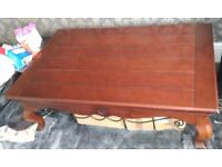 """Solid wood large coffee table, 54"""" x 34"""", very good condition"""