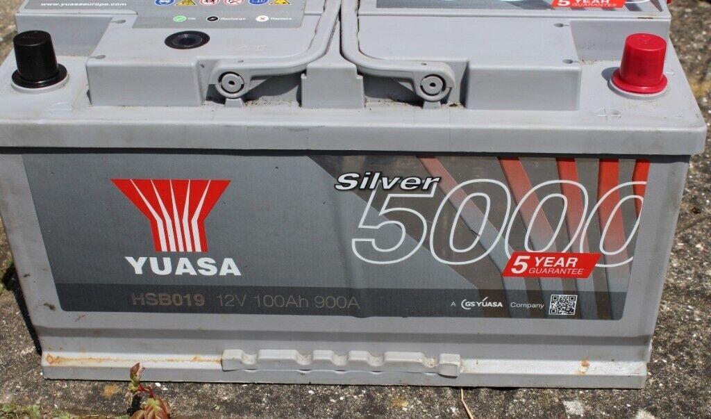 Van Fiat Ducato Yuasa Silver 5000 Battery 12v 100ah 900a