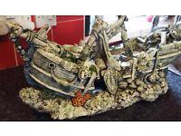 Fish tank sunken ship