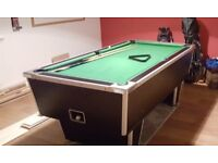 Pool Table, Pub Style with coin mechanism