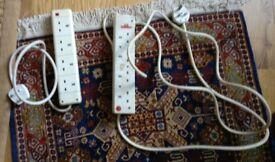 2 X electric 4 plug extension